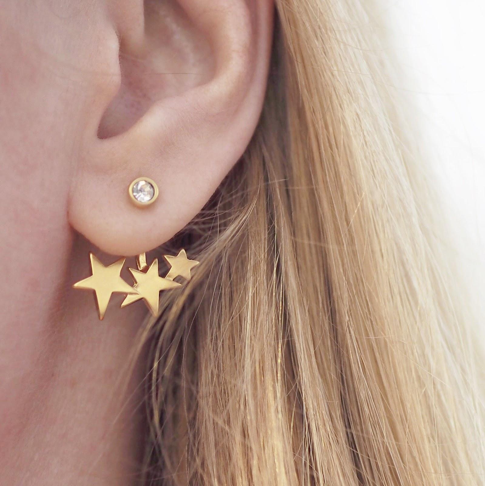 Danon triple star earrings