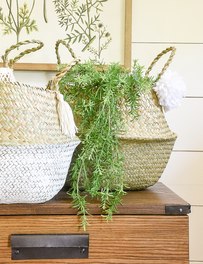 Easy ideas for decorating belly baskets