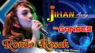 Lirik Lagu Rondo Resah - Jihan Audy