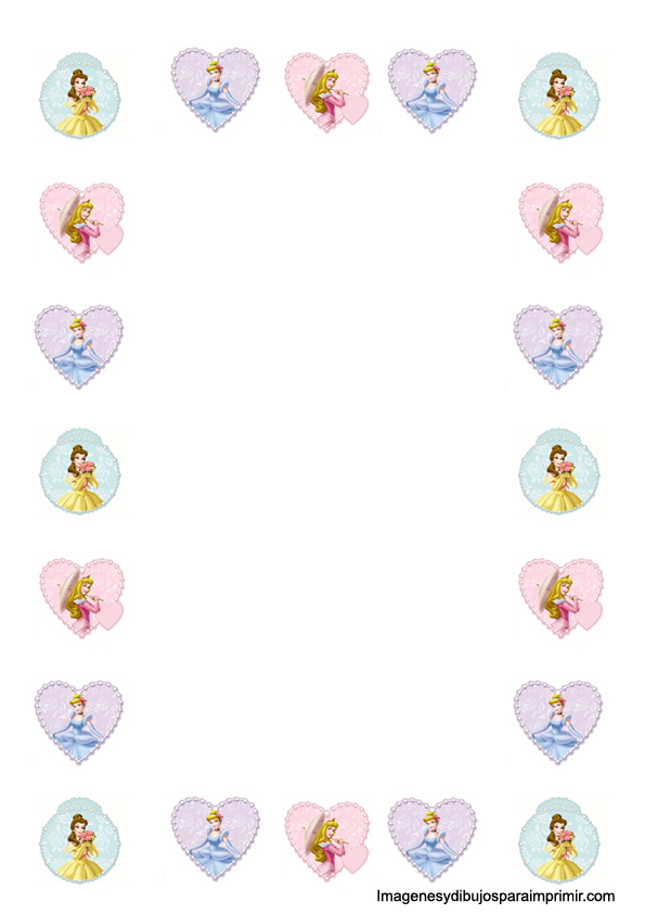 papel para imprimir de princesas disney