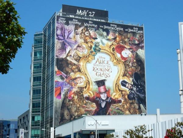 Alice Through looking Glass movie billboard