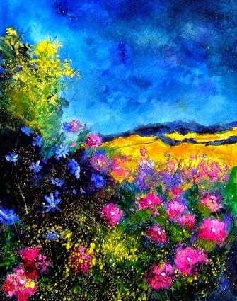 Paisagem no Verão - Cores fortes e vibrantes nas pinturas de Pol Ledent
