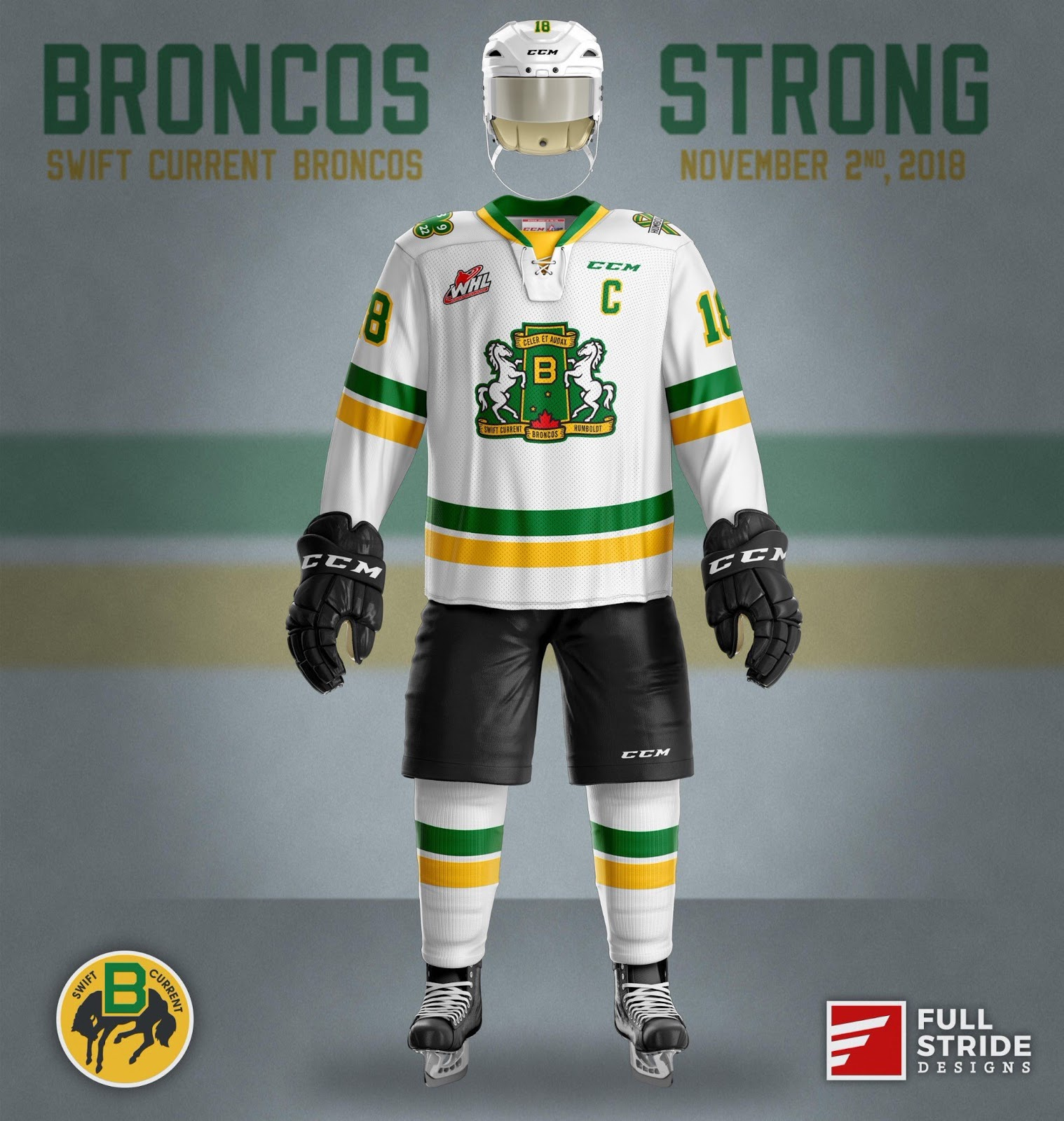 Broncos Strong  Swift Current to Pay Tribute to Humboldt on November ... 707e8beef