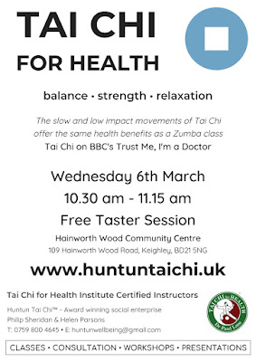 Flyer for a Tai Chi for Health Taster in Keighley
