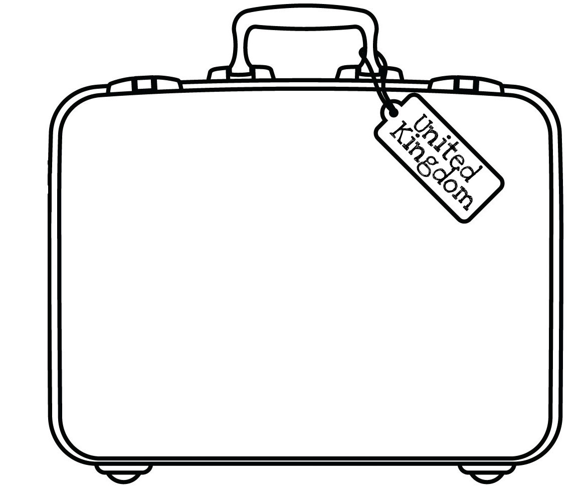 Template For A Suitcase CraftTemplate For A Suitcase Craft
