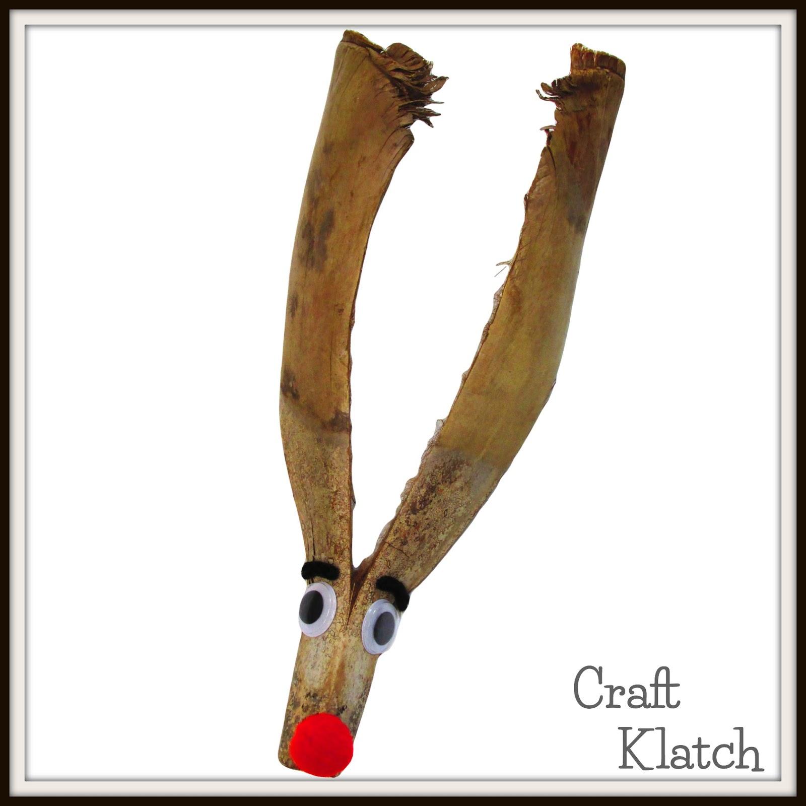 Craft Klatch Palm Bark Reindeer Christmas Diy Project