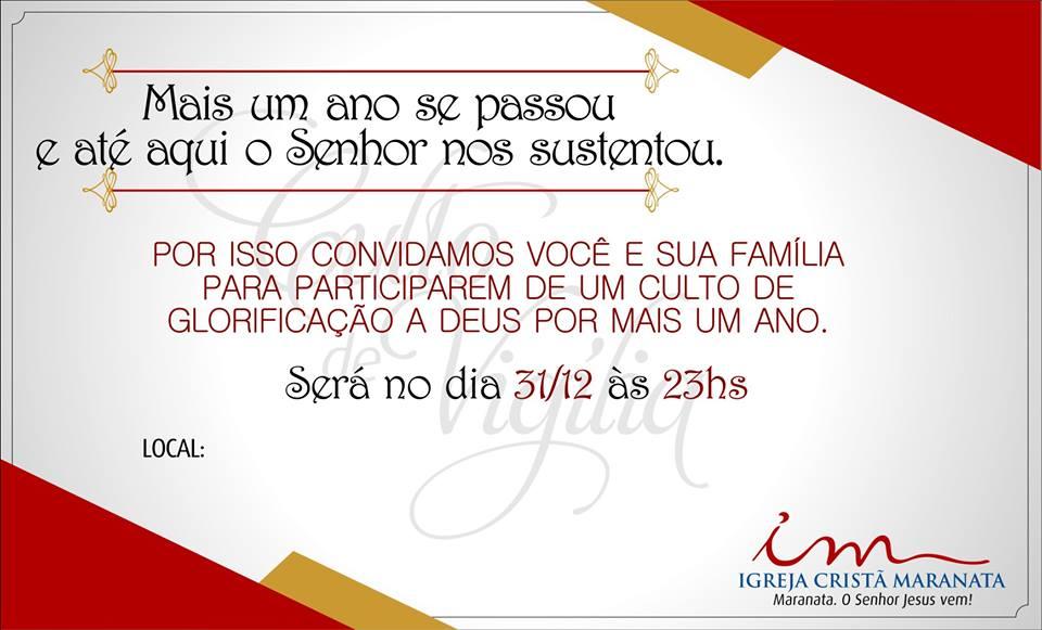 Louvores Icm Modelo De Convite