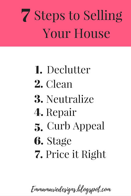 How to get your house ready to sell in just 7 easy steps! The how-to & tips for house selling - Emmamariedesigns.blogspot.com