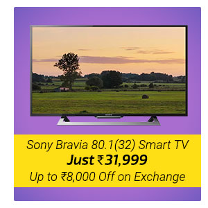 Sony Bravia 32 Smart TV at Rs. 31999