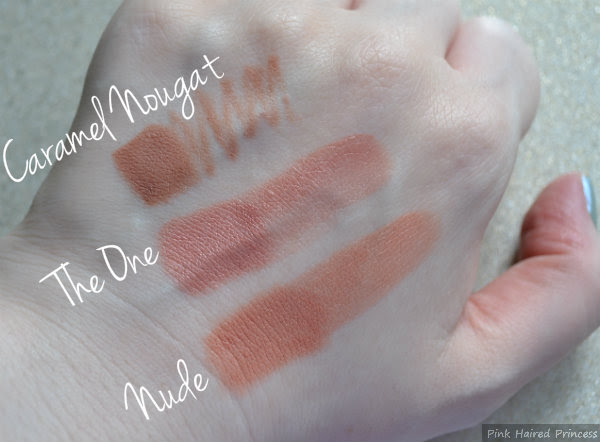 makeup revolution amazing lipstick the one and nude swatches