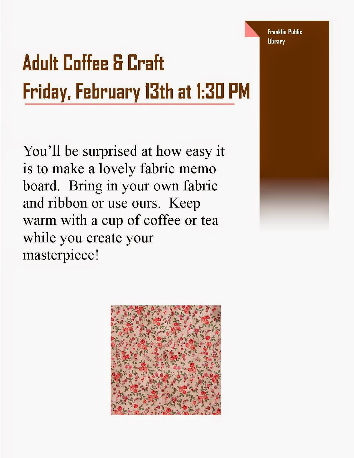 adult coffee and craft - Friday, Feb 13th