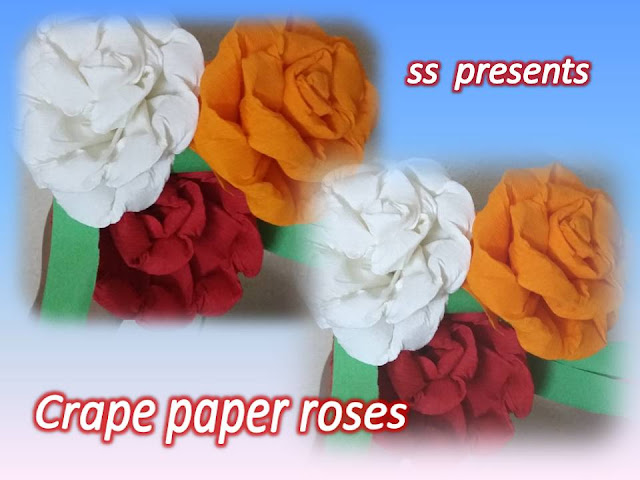 Here is crape paper crafts,news paper crafts,colour paper crafts,best out of the waste,card board crafts,arape paper flowers decorating room,bouquet ideas,how to make crape paper roses bouquet decoration room dccor wall hanging