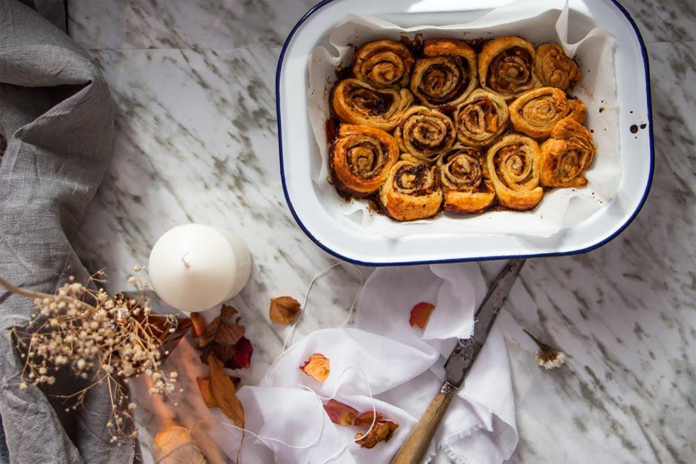 Rollitos de canela y naranja fáciles