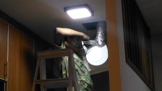 Warih Homestay - Penyambungan Hose Dengan Ventillator