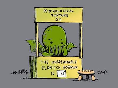 Meme de humor sobre Schulz y Lovecraft