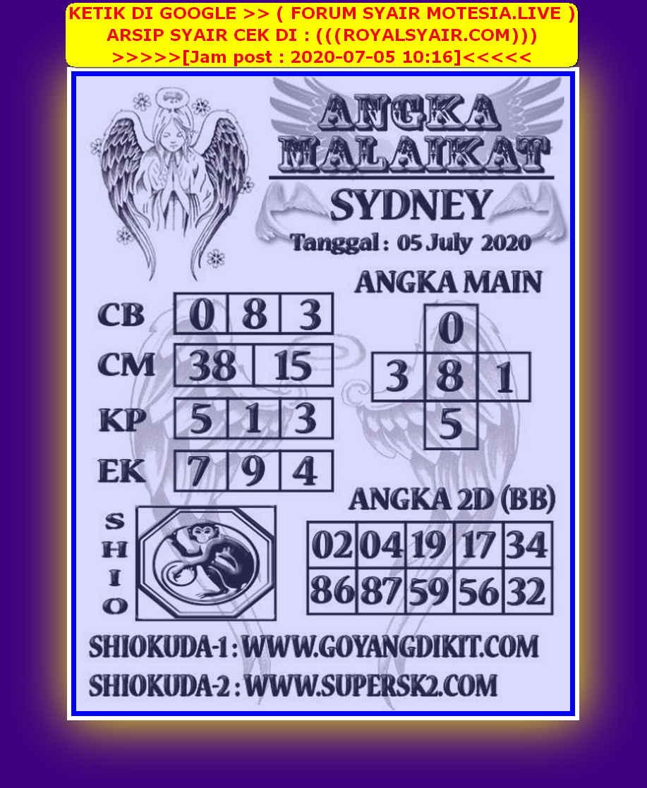 Kode syair Sydney Minggu 5 Juli 2020 75
