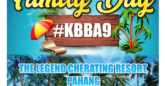 Familyday KBBA9 di Legend Cherating Beach Resort.