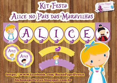 Kit Festa Alice no País das Maravilhas baby