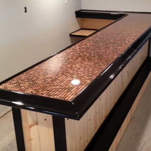 penny countertop bar
