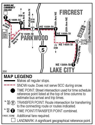 Shoreline Area News Metro Times 330 Bus Route For