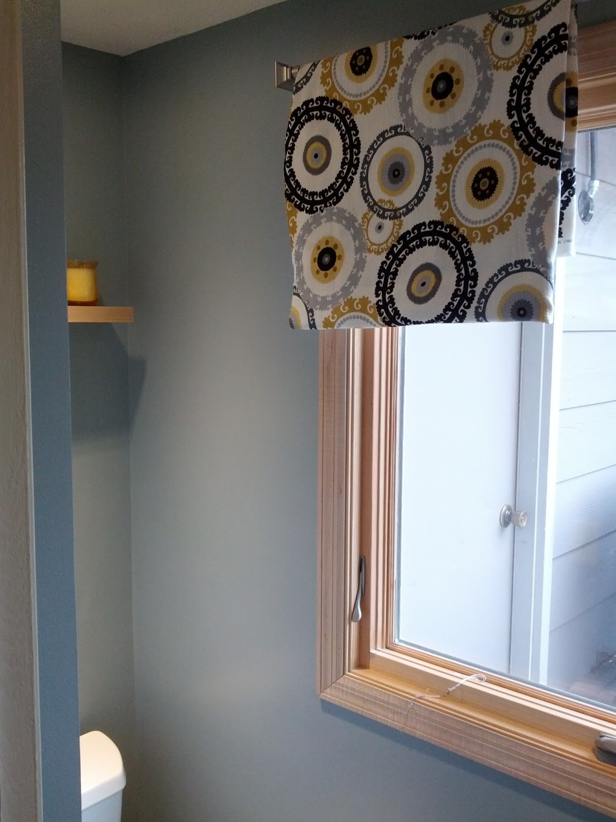Client Project Roman Shades Through The Front Door