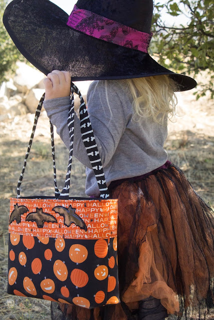 free pattern for trick or treat tote with embellishments