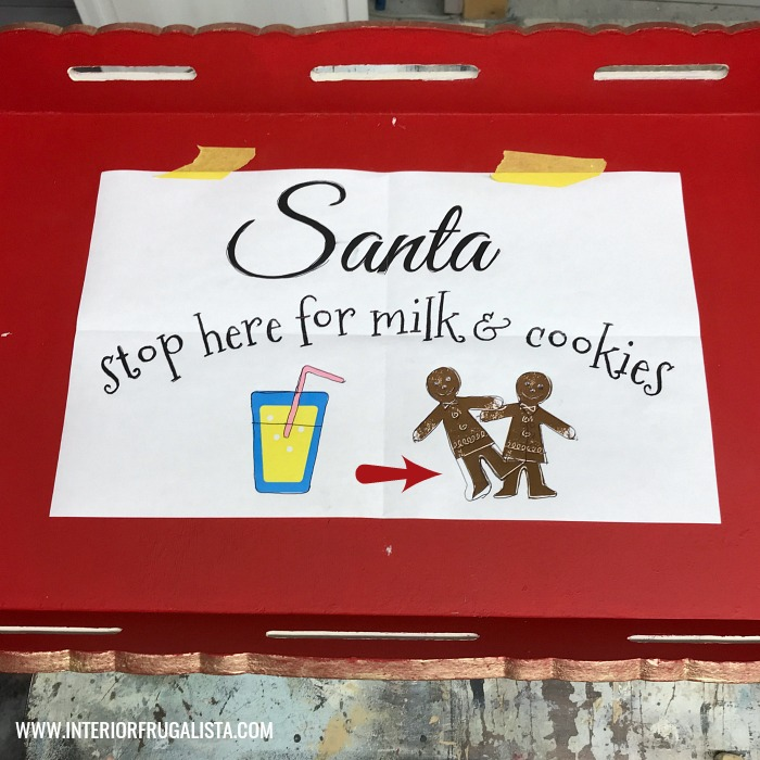 Santa Cookie Tray Printed Graphic