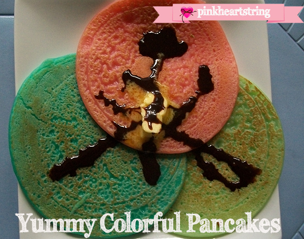 colorful pancakes recipe