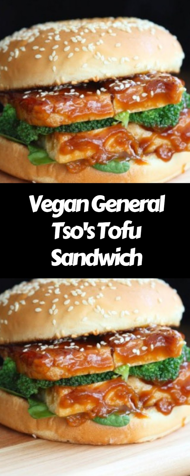 Vegan General Tso and Tofu Sandwich