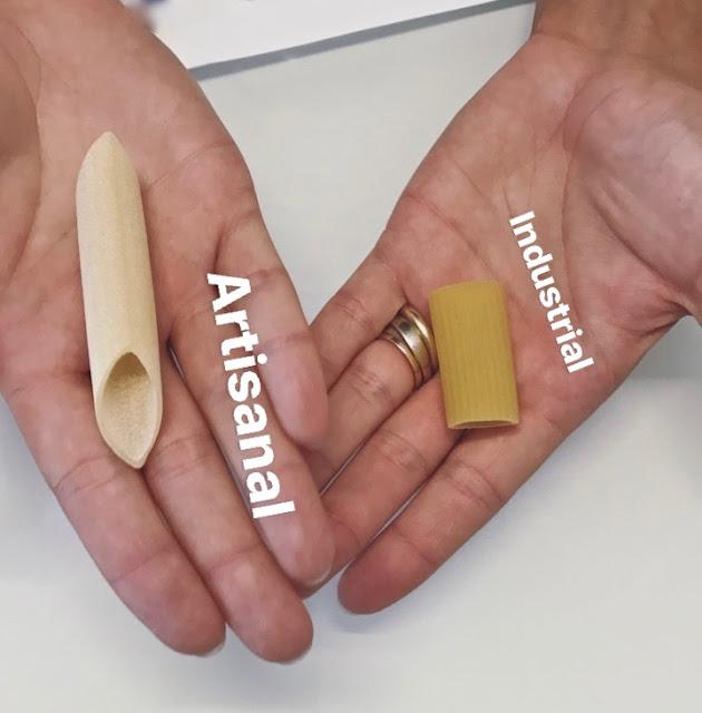 artisanal pasta versus industrial, Gragnano, Italy pic: Kerstin Rodgers/msmarmitelover.com