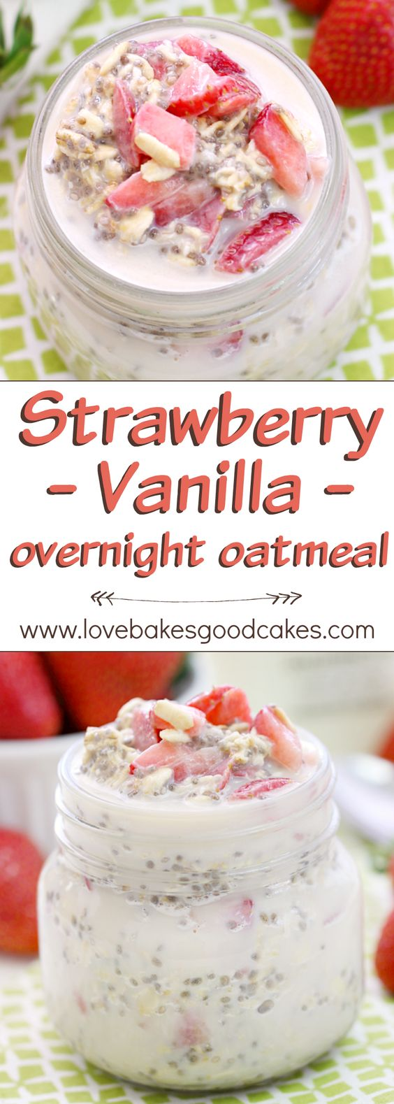 Strawberry Vanilla Overnight Oatmeal