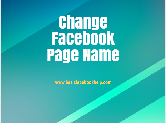 Can We Change Facebook Page Name
