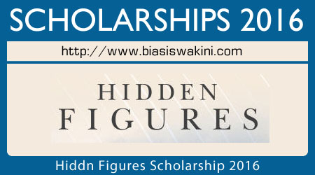 Hidden Figures Scholarship 2016