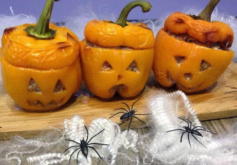 Pepper Meatloaf Pumpkins - Halloween - Recipes, Ideas and Inspiration