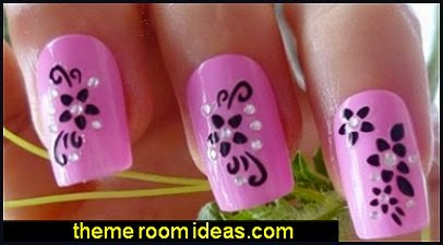 3D Nail Decals Stickers Nail Art Decorations Stickers Women's French Manicure Stickers