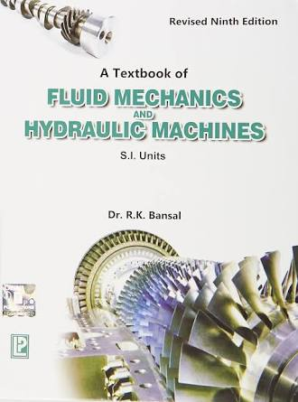 Pdf Download A Textbook Of Fluid Mechanics And Hydraulics Machine By R K Bansal Book Pdf Cg Aspirants