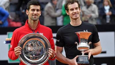 TENIS - Masters 1000 Roma masculino 2016: Murray detiene a Djokovic y es campeón en Roma