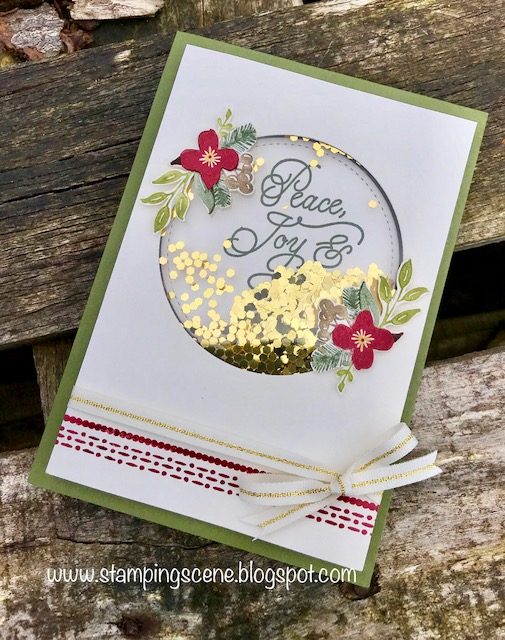 Stampin up uk demonstrator independent supplier paper craft christmas card club challenge christmas poinsettias and foliage m4hsunfo