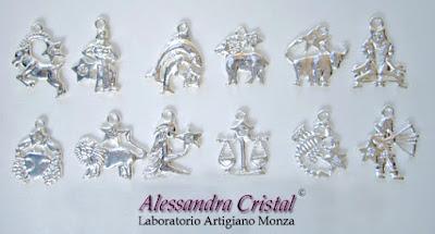 segnalibri metallo ciondoli zodiaco