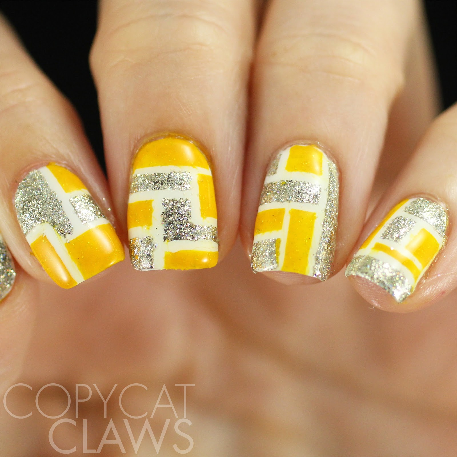 Copycat Claws 40 Great Nail Art Ideas Yellow Silver