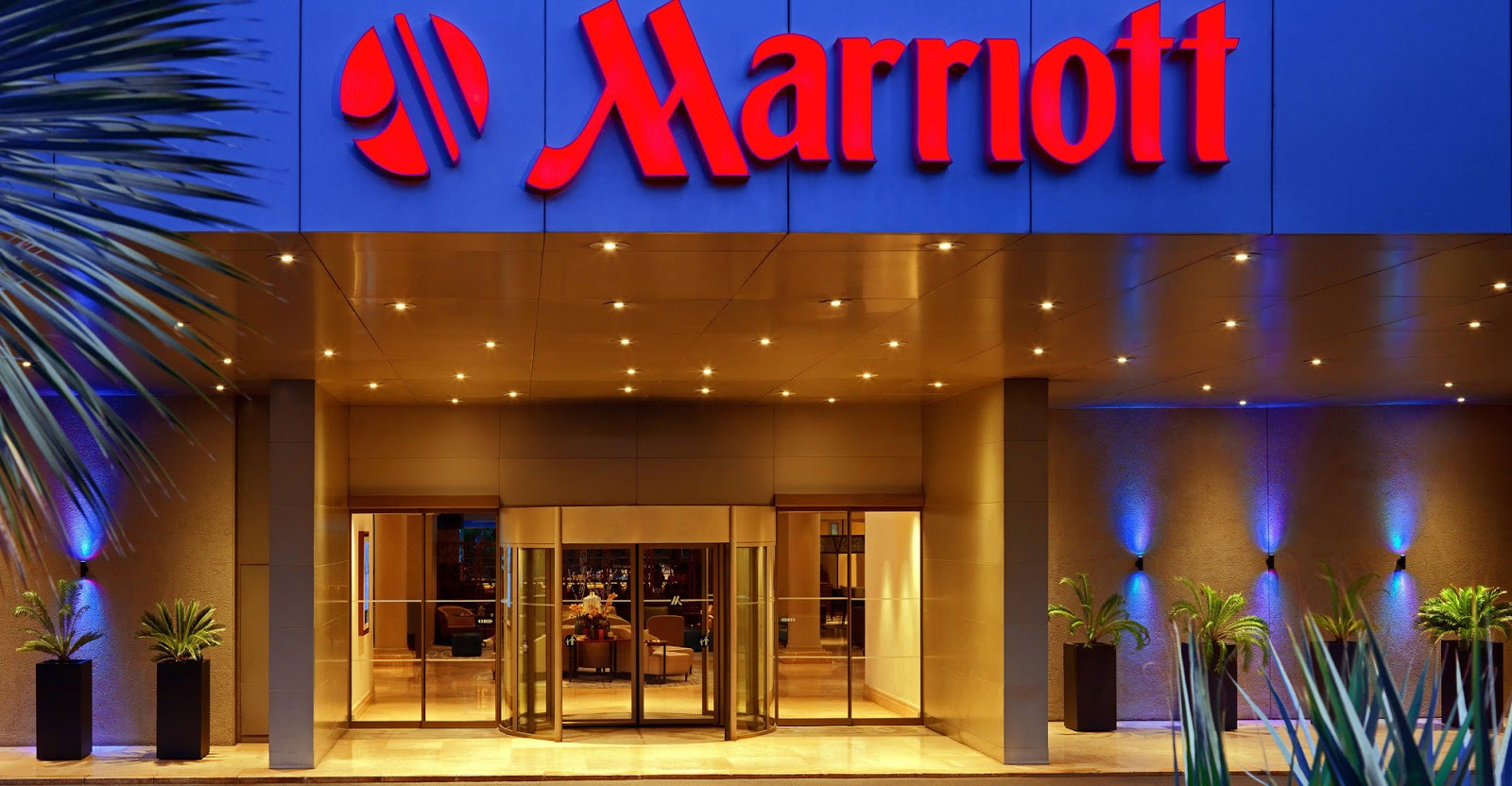 Marriott building entrance - Emerging threats - Marriott hacking