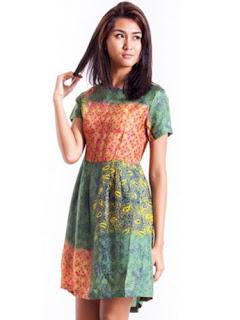 Dress Batik Gamis Modern