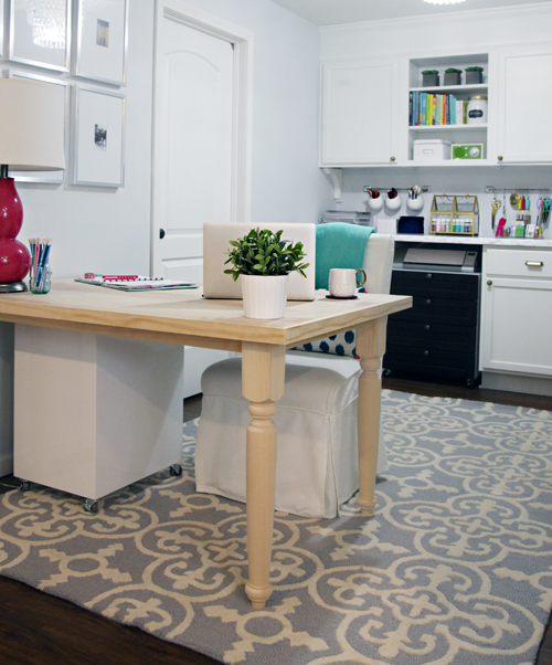 IHeart Organizing: DIY Farmhouse Table/Desk Tutorial