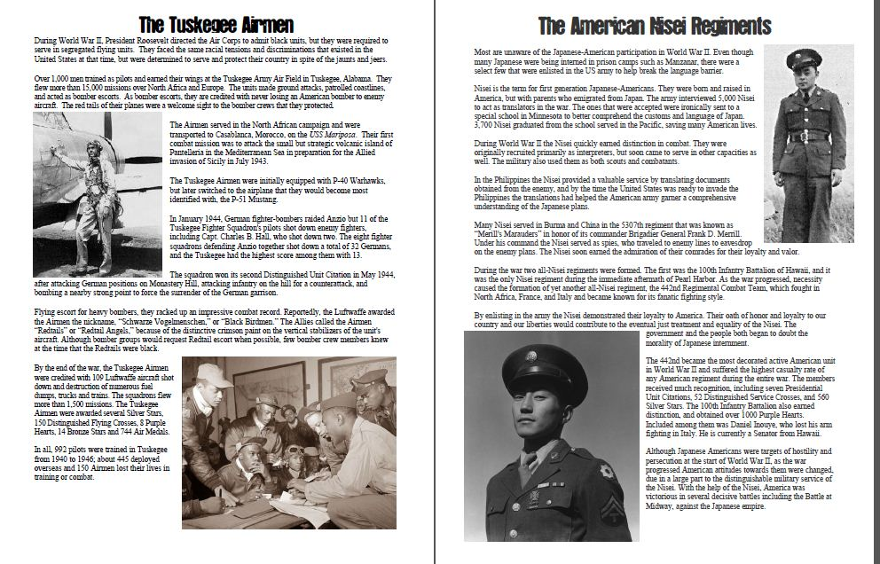 Students Of History World War Ii Service Plaques For
