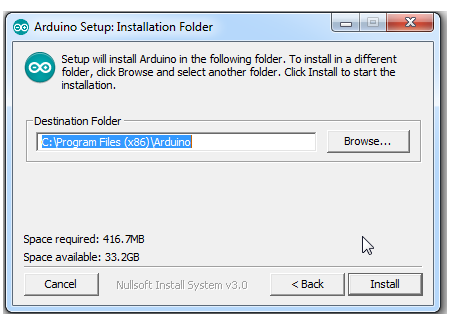 Installation Folde atau Pilih Folder Arduino