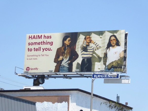 HAIM something to tell you Spotify billboard