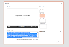 Embed ms-office files in website