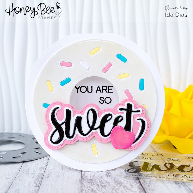 Donut Shaped Card for Honey Bee Stamps Spring Release Blog Hop - Day 2 by Ilovedoingallthingscrafty