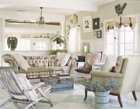 Cottage Chic Family Rooms Modern Home