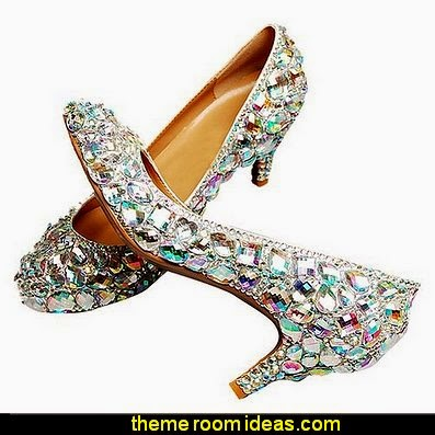 Women's Gem Rhinestone Bridal Leather Pump